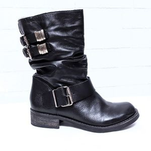 Matisse Leather Arion Moto Ruched Buckle Boot 7